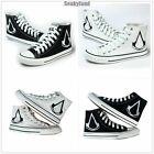 Men Women High Top Canvas Flat Trainer Sneakers Casual Shoes Assassins Creed New