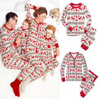 Christmas Kids Baby Adult Family Pajamas Set Sleepwear Nightwear Pajamas Costume
