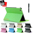 Magnetic Slim Leather Folio Stand Smart Case Cover for iPad Mini / Mini 2 Green