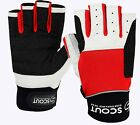 SPG Sailing Gloves Cut Finger Dinghy Yachting Rope Kayak Water Fishing Glove Red