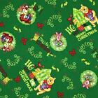 DISNEY CHRISTMAS WINNIE THE POOH NOVELTY QUILT SEWING CRAFT FABRIC Free Oz Post