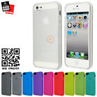2 x Anti-Fingerprint Matte Soft Gel Rubber Case Cover for iPhone SE 5S 5 White