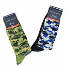 New Tommy Hilfiger Men's 2 Pair Camo Trouser Socks 10-13 Blue OR Green
