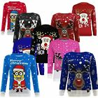 Jumper Kids Christmas Sweater Xmas Girls Childrens Boys Retro Knitted Winter New