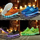 Stylish Unisex Kids Breathable Casual Shoes LED Light Up Luminous Sneakers GIFT