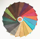 LEATHER PIECES OF PULL UP LEATHER 2.0-2.2MM THICK 20CM X 15CM ASSORTED COLOURS
