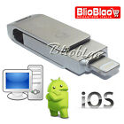 PENDRIVE CHIAVETTA MEMORY MICRO USB LIGTNING PC IPHONE TABLET ANDROID DATI FOTO