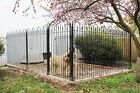 Wrought Iron Dog Kennel Pen Kit, Permanent  Outdoor Pet Run - 3 Sided 10' x 10'