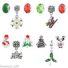 3Pcs/Set Mixed Christmas  Spacer Beads For European Bracelet