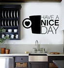 Vinyl Wall Decal Kitchen Arrogant Quote Coffee Cup Stickers (ig3936)