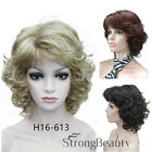 Medium Curly Hairstyles Hair wigs Women's natural fashion full  wig