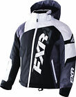 FXR Youth Black/White Weave/Charcoal Revo X Insulated Snowmobile Jacket Snow