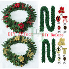 Xmas Fireplace Tree Decor 2.7m/9ft Decorated Garland Christmas Pine Ribbon Diy