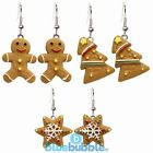 Bluebubble CHRISTMAS COOKIE Gingerbread Earrings Kitsch Retro Funky Novelty Gift