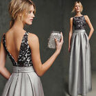 Wedding Prom Evening Gown Bridesmaid Party Cocktail Long Party Lace Lady