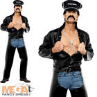 Village People Biker YMCA 1980s Men's Fancy Dress Adult Costume 80s Outfit + Hat