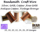 Crafts - Beadsmith Tarnish Resistant Craft Wire - 6 Colors - 7 Gauges - Jewelry - Crafts