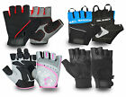 FINGER LESS GYM TRAINING FITNESS EXERCISE WEIGHT LIFTING BODYBUILDING GLOVES
