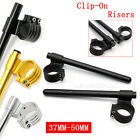 CNC 37/41mm/43mm 50mm Riser Clip On Handlebar For Suzuki GSXR600/750/1000 TL1000