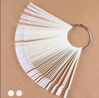 50X Nail Art False Tips Sticks Practice Display Fan Board Design Tools Chic SN