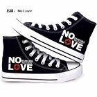 Anime Eminem Cosplay Black High canvas shoes Leisure