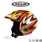 ZEUS ZS-202 B/D/GB Motorcycle Scooter Open Face Jet Helmet DOT Safety Approved