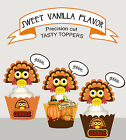 Turkey Thanksgiving Fall Festival Party Cupcake Cake Toppers Standup Cup Cake