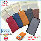 Amelia Rose London ® Fine Quality Leather - Slim back case for iphone & Samsung