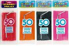 50 DRINKING STRAWS BIRTHDAY WEDDING CATERING EVENTS PLAIN DISPOSABLE PLATES CUPS