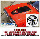 GE-QG-278 1971 DODGE CHARGER - SUPER BEE BLACKOUT HOOD DECAL - MULTI COLOR BEE