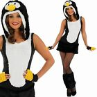 Ladies Sexy Penguin Costume – Womens Animal Fancy Dress Party Clubwear Outfit