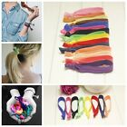 Girl Women Elastic Knotted Hair Ties Hair Ring Band Ponytail Holder Wholesale