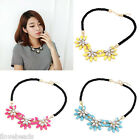 Women Chic Sunflower Necklace Clavicle Chain Choker Bib Statement Necklace
