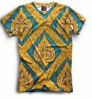 All Over cool print lsd shirt colorful psychedelic tee GOA pattern high quality