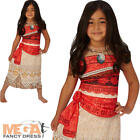 Moana Girls Fancy Dress Disney Princess Hawaiian Book Day Kids Child Costume New