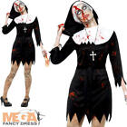 Zombie Nun Ladies Halloween Fancy Dress Undead Sister Womens Adults Costume New