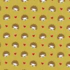FOX WOODS HEDGEHOGS GREEN MICHAEL MILLER  SEWING CRAFT QUILT FABRIC Free Oz Post