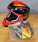 Shoei Sear VFX-W Off-Road Full Face Motorcycle Helmet NEW Red/Black/Yellow TC-1