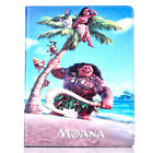Disney Character Cartoon Moana Patterned Smart Cover Leather Case For iPad 4 Air