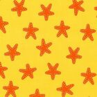 SEA & SUN PACIFIC STARFISH YELLOW SEWING CRAFT QUILT FABRIC Free Oz Post
