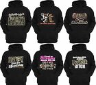 Women Black Hoodie Girls Hunt Too Happy Hunting Camo The New Black Sweatshirt