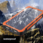 50000mAh Waterproof Solar Charger 2USB 6LED Power Bank Backup External Battery