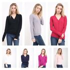 Ladies Fine Knit Malwee V Neck Woman Button Cardigan Long Sleeve Tops S to XXL
