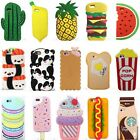 3D Cartoon Hot Cute Kawaii Food Silicone Phone Case Cover Back For Various Phone