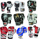 3X Sports Leather Boxing Gloves Fight Punch Bag MMA Muay thai Sparring Training