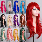 Lady Fashion 70cm Full Curly Wigs Cosplay Costume Anime Party Hair Wavy Long Wig