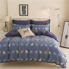 Deer King Single Double Size Quilt Doona Duvet Cover Sets Bedding Pillowcase Elk