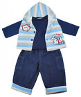 Boys Baby Little Buddy 3 Piece Hoody Gilet Top & Jeans Set Outfit 3 to 12 Months