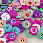 New 10/50/100/500pcs Mix Flowers Wood Buttons 20mm Sewing Craft Mix Lots W218
