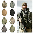 Mens Outdoor Hooded WATERPROOF PONCHO Rain Coat Jacket Camping Hunting Shooting